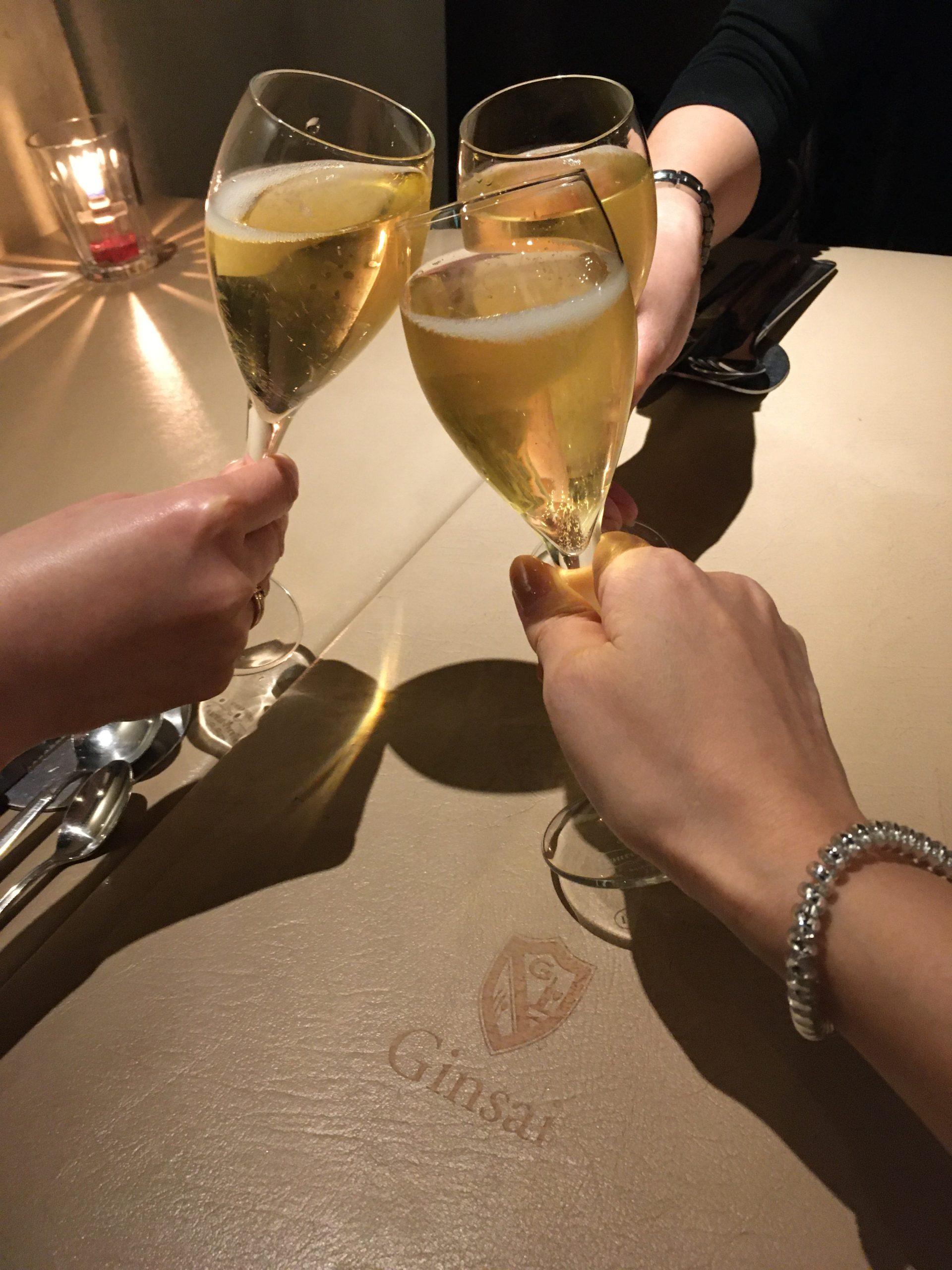 久しぶりの泡会。シャンパンフリーフロー@銀座、コロナに負けるなです。