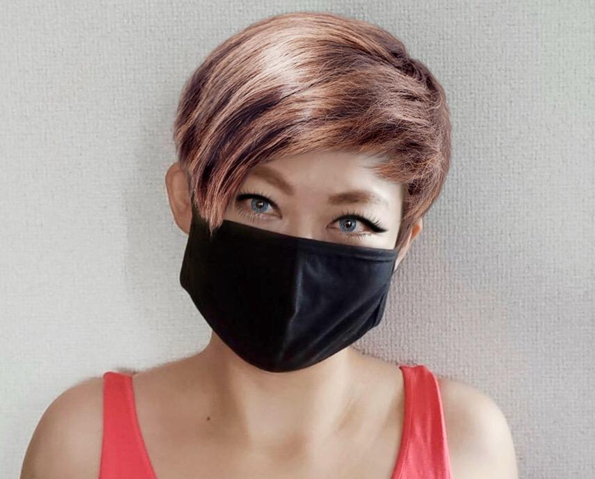 メイク加工アプリ遊び。メイクとマスクの関係…Amazon店で販売好調なマスク、グレーが新規入荷しました✨